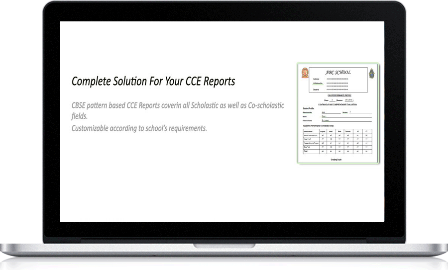 CCE Report Card Generation